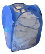 Pop-Up Laundry Hamper w/ Side Pockets - Laundry Bag - Wash Bag - Travel - Dorm