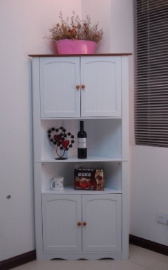 Crazy Price Last Day Wooden Corner Cabinet White,HC-003A