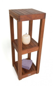Square Three Tier Teak Bath Stand - From the Spa Collection