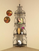 Four Tier Metal Etagere Shelf in Dark Grey