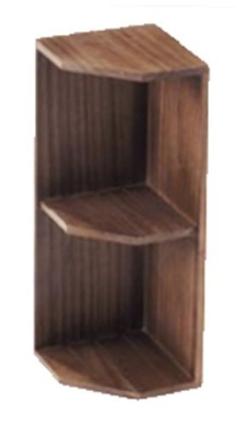 Cherry wood corner shelf 16-68DBR (japan import)