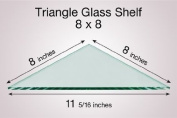 Triangle Glass Shelf 8 x 8
