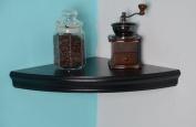 Welland Trenton Corner Shelf, 36cm by 36cm , Espresso