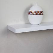 ElleHome Michigan Floating Wall Shelf, 24 L X 12 W X 2 H Inch, White