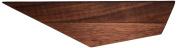David Hsu Design Peliship Floating Shelves, Small Left, Walnut