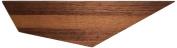 David Hsu Design Peliship Floating Shelves, Small Right, Walnut