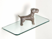 Glass Corner Shelf 20cm D X 46cm W 1cm Thick Rectangle