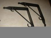 Shelf Brackets (Pr.) Large - Hand Made Wrought Iron