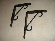 Shelf Brackets (Pr.) Small-Hand Made Wrought Iron