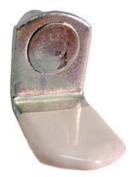 """Progressive Stamping Vinyl Coated 5mm """"L"""" Shaped Supports Nickel"""