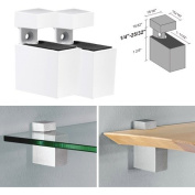 Dolle Cuadro White Adjustable Shelf Brackets for up to 1.9cm Shelf - Pair