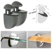 Dolle Jam Anthracite Adjustable Glass or Wood Shelf Bracket - Pair