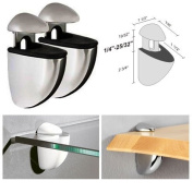 Dolle Jam Stainless Adjustable Glass or Wood Shelf Bracket - Pair
