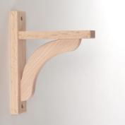 Wood Shelf Bracket - Oak Concave 8