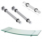 Dolle Polished Chrome Atlas Shelf Support - 15cm - Pair