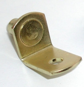 """Progressive Stamping """"L"""" Shaped Supports Polished Brass"""