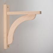 Wood Shelf Bracket - Maple Concave 10