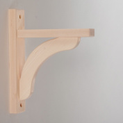 Wood Shelf Bracket - Maple Concave 8