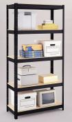 Hirsh Industries 5-Shelf Unit, 36 by 41cm by 180cm , Black