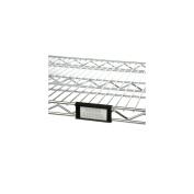 Focus Foodservice FSHELF3B 7.6cm Black Snap-On Shelf Label Clip - 4 / PK