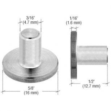 CRL Brushed Stainless UV Shelf Support With Plastic Sleeve-4 Pack
