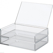 MUJI Acrylic Stackable 2 Drawers Box with Lid L Size