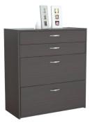 Inval America B2AR-2705 4 Drawer Storage/Filing Cabinet