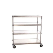 Four Shelf Queen Mary Mobile Shelving Unit Size