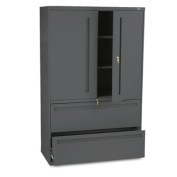 HON COMPANY * 700 Series Lateral File w/Storage Cabinet, 42w x 19-1/4d, Charcoal, Sold as 1 Each