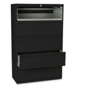 HON(tm) 795LP - 700 Series Five-Drawer Lateral File w/roll-Out & Posting Shelves, 42w, BLK