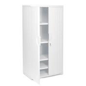 ~:~ ICEBERG ENTERPRISES ~:~ Officeworks Cabinet, 1 Fixed/3 Adjustable Shelves, 36x22x72, Platinum