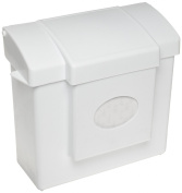 Hospeco HS-6140W White All-In-One Feminine Hygiene Receptacle with Removable Rigid Plastic Liner