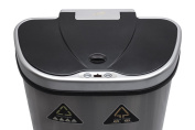 Nine Stars Trash Can/Recycler, Infrared Touchless Automatic Motion Sensor Lid, Stainless Steel, 70l