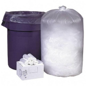 Webster Ultra Plus™ High-Density Clear Trash Can Liners, 113.6ls, .39 Mil Thick, 80cm . x 90cm ., Box Of 500