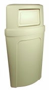 Continental 8325BE, Corner Round Beige Plastic Dome Receptacle with Unique Bag Holder, 79.5l Capacity