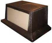 Continental T7318BN/BE, Wall Hugger Lid, Brown/Beige