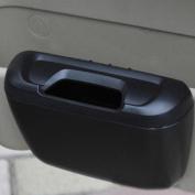 Vktech Multifunctional Trash Garbage Dust Box Tissue Box Litter Container Black