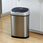 Nine Stars DZT-42-9 Touchless Stainless Steel 44.7l Trash Can