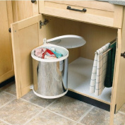 Hafele built in round steel trash can with auto opening lid
