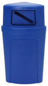 Continental 8325-1, Blue Corner Round Recycling Station, 79.5l Capacity