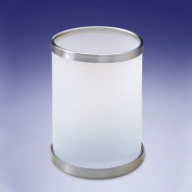 Frozen Glass Waste Basket with Open Top Colour