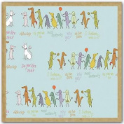 Notecards - Animal March GreenGift-Notes