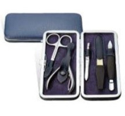New - Groom Leather & Stainless Steel Manicure Kit - VSET31