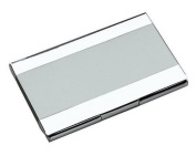 Stripe Stainless Steel Business Card Case