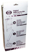 SEBO 5828ER Service Box with Sealing Strip for X Series Vacuum with 10 filter Bags, Exhaust filter, Electrostatic Micro filter and Sealing Strip