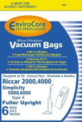 18 DESIGNED TO FIT SIMPLICITY A & RICCAR 2/4000 VACUUMS