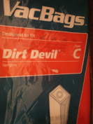 Vacuum Bags Designed to fit Dirt Devil Type C Uprights ... pkg of 3 bags