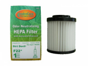 (1) Royal Dirt Devil Aspire F22/F26 Pleated HEPA w/activated Charcoal Vacuum filter , Express Aspire, Featherlite Vacuum Cleaners, 1LV1110000, M084590, 084590