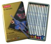 Derwent Metallic Pencil Tin 12/Pkg