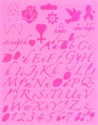 Breast Cancer Awareness Lettering Template